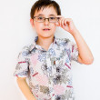 A boy with glasses — Stock Photo #11137776