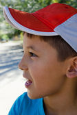 Portrait of a young boy in profile — Stock Photo