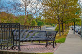 Bench on a park — Stock Photo
