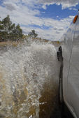 4WD River crossing in Outback Australia — Stock Photo