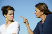 Mother and daughter, two generations, having an argument — Stock Photo