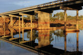 Bridge over tranquil river outback Australia — Stock Photo