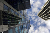 High rising skyscraper in central business district — Stock Photo