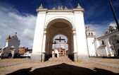 Part of cathedral in Copacabana, Bolivia, south America. — Stock Photo