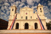 Catholic cathedral from front in Asuncion, Paraguay. — Stock Photo