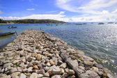 Copacabana in Bolivia, lake Titicaca. South America. — Stock Photo