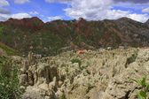 Magnificent Moon valley in La Paz, Bolivia. — Stock Photo