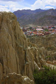 View from Moon valley, La Paz, Bolivia. — Stock Photo