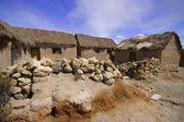 Old stone houses in village Sajama, Bolivia. — Stock Photo