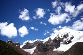 Sky with clouds in mountains, Huaraz, Peru. — Stock Photo