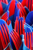 Plastic party forks — Stock Photo