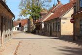 Street in the city of Kuldiga in Latvia — Stock Photo