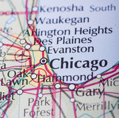 Chicago map — Stock Photo