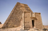 Sudanese pyramid — Stock Photo