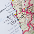 Stock Photo: Beirut, Lebanon map