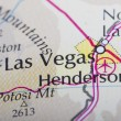 Las Vegas on a map — Stock Photo