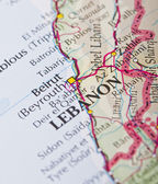 Beirut, Lebanon map — Stock Photo