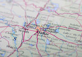 Dallas on a map — Stock Photo