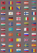 European flags, with clipping path included — Stock Photo