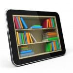 E-book library concept — Stock Photo