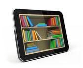 E-book library-konzept — Stockfoto