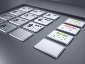 ATM machine keypad — Stock Photo