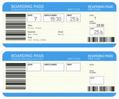 Airline boarding pass tickets — 图库照片