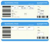 航空会社の搭乗券 — ストック写真