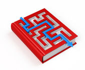 Book labyrinth concept — Stock Photo