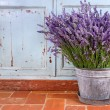 Bouquet of lavender in a rustic setting - Stock Photo
