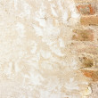 Brickwall with plastered wall — Stock Photo #11682755