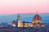 Florence Duomo in the evening pink sunlight — Stock Photo