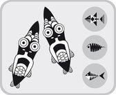 Set of fish — Stock Vector