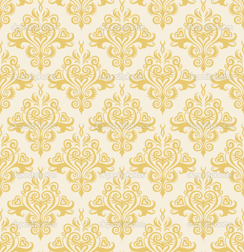 Indian Wallpaper Pattern Gold
