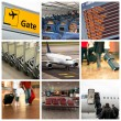 Airport and travel — Stock Photo