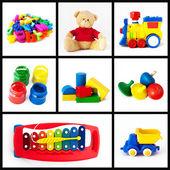 Speelgoed-collectie — Stockfoto