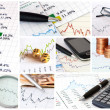 Finance collage — Foto Stock