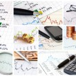 Finance collage — Stockfoto