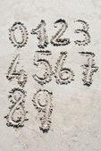 Písek čísla — Stock fotografie