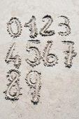 Sand numbers — Stock Photo