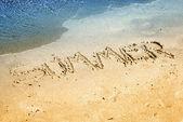 Summer on sand — Stock Photo
