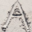 Stock Photo: Sand beach alphabet: letter A