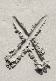 Αμμουδιά αλφάβητο: γράμμα Χ — Φωτογραφία Αρχείου