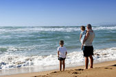 Family at the sea — Stock Photo