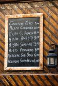 итальянское меню ресторана — Стоковое фото