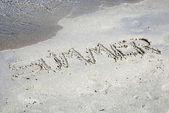 Lato na piasku — Zdjęcie stockowe