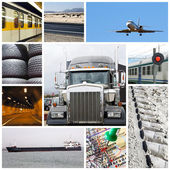 Transport collage — Stock Photo