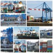 Cargo shipping collage — Stock Photo #11988556