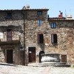 Castiglione d'Orcia square - Tuscany, Italy — Stock Photo