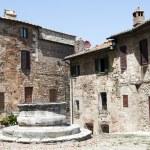 Castiglione d'Orcia square - Tuscany, Italy — Stock Photo #11989561